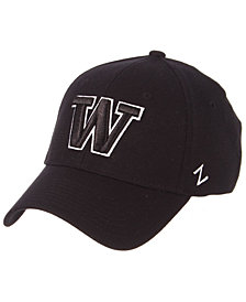 Zephyr Washington Huskies Black/White Stretch Cap
