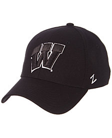 Zephyr Wisconsin Badgers Black/White Stretch Cap