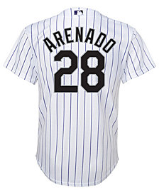 Majestic Nolan Arenado Colorado Rockies Player Replica Cool Base Jersey, Big Boys (8-20)