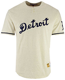 Mitchell & Ness Men's Detroit Tigers Sealed The Victory Henley T-Shirt