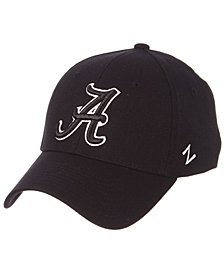 Zephyr Alabama Crimson Tide Black/White Stretch Cap