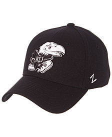 Zephyr Kansas Jayhawks Black/White Stretch Cap