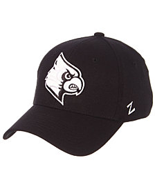 Zephyr Louisville Cardinals Black/White Stretch Cap