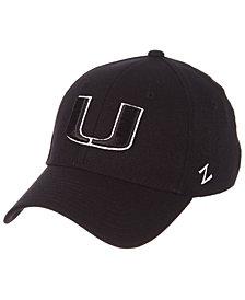 Zephyr Miami Hurricanes Black/White Stretch Cap