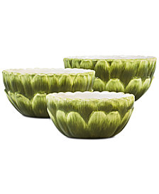 CLOSEOUT! Martha Stewart Collection Farmhouse Artichoke Nesting Bowls, Set of 3, Created for Macy's