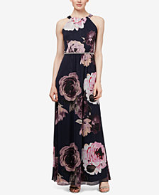 SL Fashions Embellished Chiffon Maxi Gown