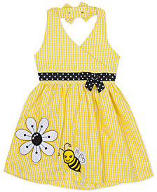 Rare Editions Toddler Girls Gingham Seersucker Halter Dress