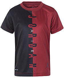 Jordan Big Boys Air Jordan-Print Coloblocked T-Shirt