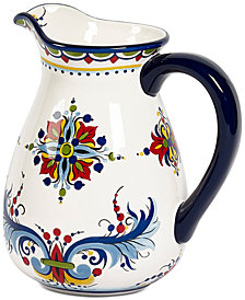 Tabletops Unlimited San Marino Italian Blue Pitcher