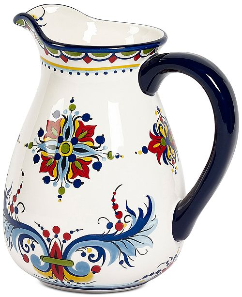Maison Versailles Tabletops Unlimited San Marino Italian Blue Pitcher