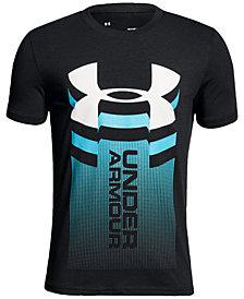 Under Armour Big Boys Vertical Logo-Print T-Shirt