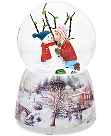 Roman Kissing Snowman Dome Snowglobe