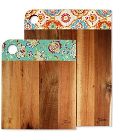 Fiesta 2-Pc. Acacia Wood Patterned Cutting Board Set