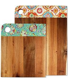 Fiesta 2-Pc. Acacia Wood Patterned Cutting Board Set