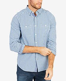 Nautica Men's Blue Depths Plaid Shirt