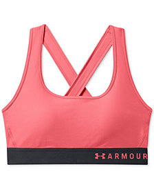 Under Armour Charged Cotton® Cross-Back Medium-Support Sports Bra