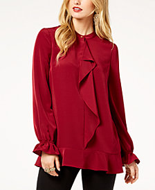 Zoe by Rachel Zoe Ruffled Peplum Blouse, Created For Macy's