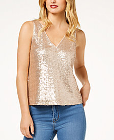 Zoe by Rachel Zoe Sequined Top, Created For Macy's
