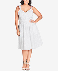 City Chic Trendy Plus Size Cotton Lace Dress