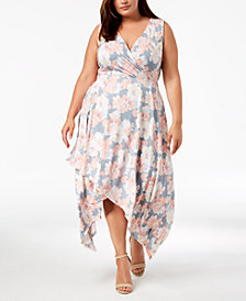 Love Squared Trendy Plus Size High-Low A-Line Dress