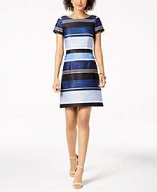 Adrianna Papell Striped Dress