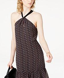 Maison Jules Flower-Print Boho Halter Dress, Created for Macy's