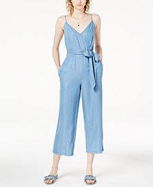 Maison Jules Cropped V-Neck Jumpsuit, Created for Macy's