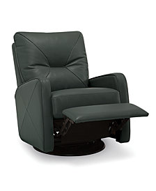 Finchley Leather Swivel Glider Pushback Rocker Recliner