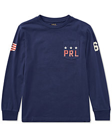 Polo Ralph Lauren Cotton Jersey Graphic T-Shirt, Big Boys