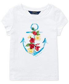 Polo Ralph Lauren Toddler Girls Cotton Jersey Graphic T-Shirt