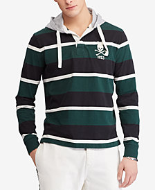 Polo Ralph Lauren Men's Hooded Cotton Rugby Shirt