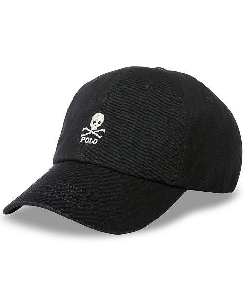 Polo Ralph Lauren Men s Embroidered Skull Baseball Cap - Hats ... 6891e6266851