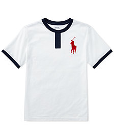 Polo Ralph Lauren Big Pony Cotton Jersey T-Shirt, Big Boys