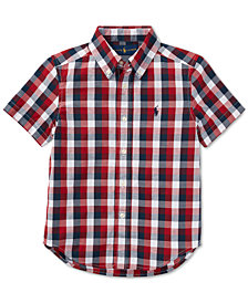 Polo Ralph Lauren Big Boys Plaid Cotton Shirt