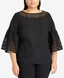 Lauren Ralph Lauren Plus Size Poplin Top