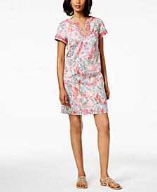 Pappagallo Tori Floral-Print Shift Dress