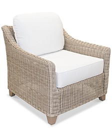 Willough Outdoor Club Chair, with Sunbrella® Cushions, Created for Macy's