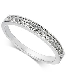 Diamond Milgrain Band (1/5 ct. t.w.) in 14k White Gold