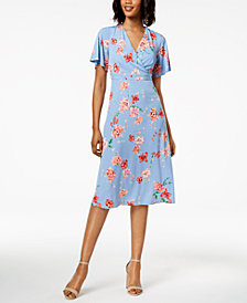 Jessica Howard Petite Surplice A-Line Dress