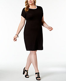 MICHAEL Michael Kors Plus Size Cap-Sleeve Dress