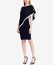 Lauren Ralph Lauren Colorblocked Overlay Dress