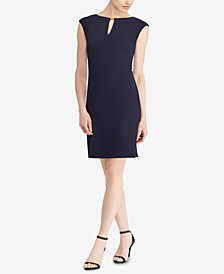 Lauren Ralph Lauren Petite Keyhole Dress