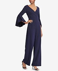 Lauren Ralph Lauren Crepe Bell-Sleeve Jumpsuit