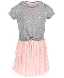 Epic Threads Little Girls Layered-Look Tie-Front Dress, Created for Macy's