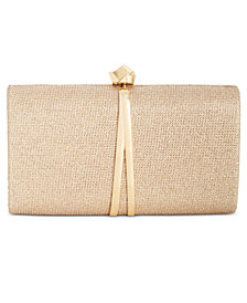 I.N.C. Dinaa Knot Sparkle Clutch, Created for Macy's