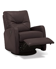 Finchley Leather Power Swivel Glider Recliner
