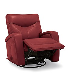 Erith Leather Swivel Rocker Recliner