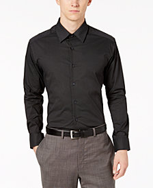 AlfaTech by Alfani Men's Classic/Regular Fit Diamond Print Dress Shirt, Created for Macy's