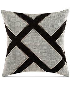 """Charisma Emporio Faux-Silk Embroidered 20"""" Square Decorative Pillow"""
