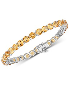 Citrine (18 ct. t.w) Bracelet in Sterling Silver (Also Available in Blue Topaz)